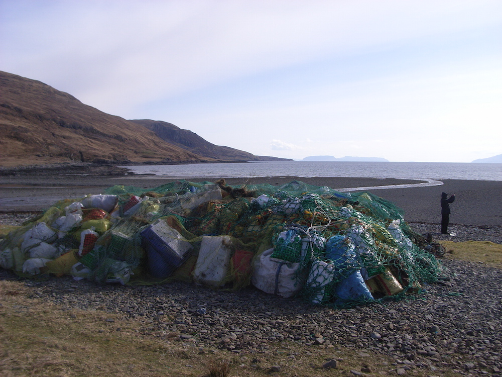 Plastic debris picked up on Skye