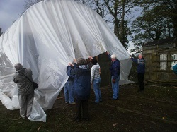 Covering the Appleby Polytunnel