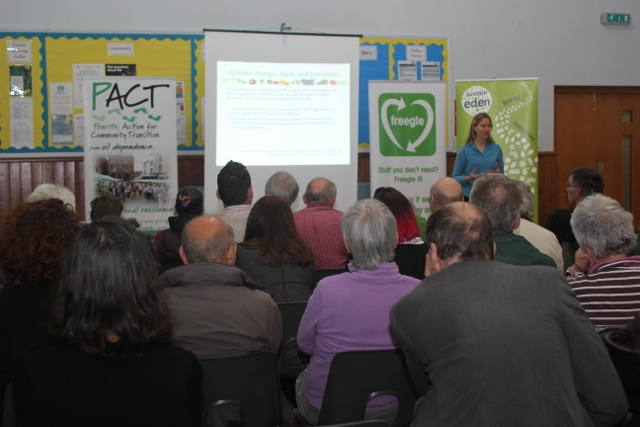 Plant ecologist Naomi van der Velden explores alternatives to mass food production at the PACT Local Food Matters event in Penrith on Wednesday 15 October 2014